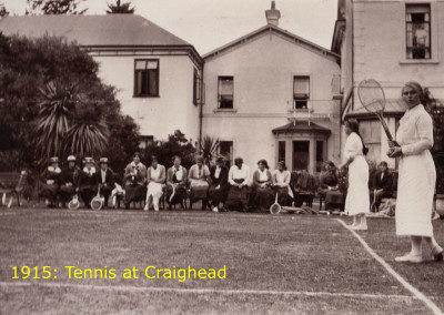 1915 Tennis at Craighead