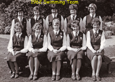 1962 Swimming Team